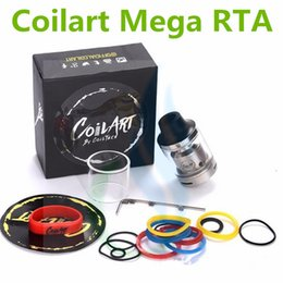 Wholesale Glass Tube Fittings - Clone Coil Art MAGE RTA Tank Coilart Mega RTA 3.5ml Capacity 24mm with Replacement Glass Tube fit 510 Mods DHL Free