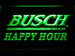 Wholesale Neon Busch Beer Signs - 621 Busch Beer Happy Hour Bar LED Neon Sign with On Off Switch 7 Colors to choose