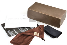Wholesale Wholesale Paper Coffee - Wholesale 30pcs lot Fashion Paper Coffee Color Brand Sunglasses Casees And Brown Glasses Pouch