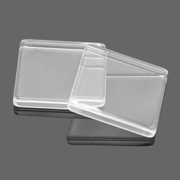 Wholesale Square Cabochons - Clear Square Flat Back Acrylic Glass Domed Magnifying Cabochons For DIY Photo Pendant Tray Setting