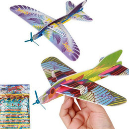Wholesale Toy Planes Fly - 2016 Make Your Own Foam Glider Assorted Power Prop Flying Gliders Bird Gliders Planes Aeroplane Kids Children DIY Puzzles Toys