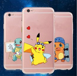 Wholesale Cell Phone Cases Minions - Free Shipping Soft Pikachu Cell Phone Cases Cartoon Silicon minion Case Cover Mobile Phones for iP6 6s iP 6 6s Plus