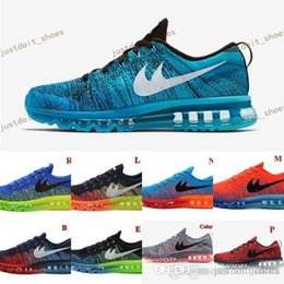 Wholesale New Line Fabrics - Cheap 2014 Running Shoes Men Fly Line 100% Original Mens Walking Shoes Air New Sports Tennis Jogging Shoes Free Shipping Size 40-46