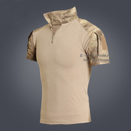 armee kleidung großhandel Rabatt Großhandels-Männer-Sommer-Armee-Kampf-taktisches T-Shirt-Kurzschluss-Hülsen-Spitzen-T-Shirts Jagd-Kleidung