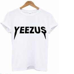 Wholesale Concert Tour T Shirts - 2016 New Yeezus Kanye West T Shirts Men Women Tour Concert Sport Fitness Cotton Short Sleeve tshirt Tops Tee Clothing 4Colors