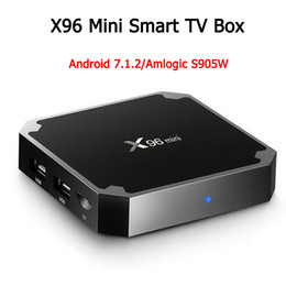 android tv top Coupons - X96 mini Android 7.1 Amlogic S905W Quad Core TV BOX 2GB 16GB 1GB 8GB Suppot H.265 UHD 4K 2.4GHz WiFi Set-top box
