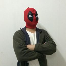 Wholesale Deathstroke Mask - U.S Deadpool Masks JLA Balaclava Halloween Party Mask Cosplay Hero Costume X-men Hats Deathstroke Rib Fabrics Full Face Masks free shipping
