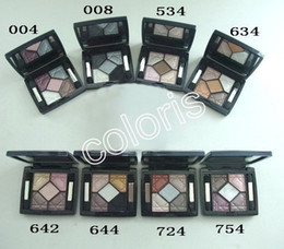 Wholesale Long Satin Bags - Makeup Base Eyeshadow Palette 5Color Shimmer & Metallic Eyeshadow Top Quality Palette With Velvet bag And Mirror Natural Primer Eyeshadow 6g