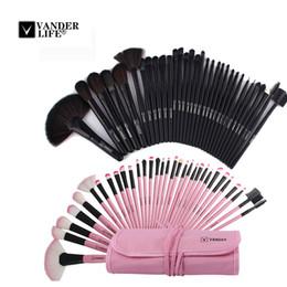 2019 vida do caso Vander Life 32 pcs Conjuntos de Escovas de Maquiagem Cosméticos Profissionais Escovas Set Kit + Bolsa Bolsa Caso Mulheres Make Up Ferramentas Pincel Maquiagem desconto vida do caso