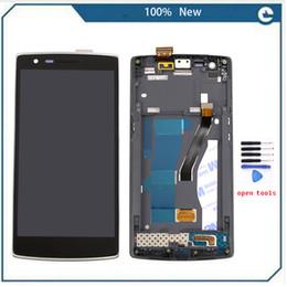Deutschland Großhandels-New Black LCD Display Touchscreen Digitizer Assembly + Frame + Werkzeuge für One Plus One für One Plus 1 +, freies Verschiffen + Spur Nr. supplier oneplus screen Versorgung