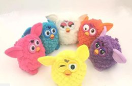 Wholesale Pink Orange Owl - Electric Pets Owl Elves Recording Talking Plush Toys Plush Stuffed Kids Interactive Toys 6 Colors