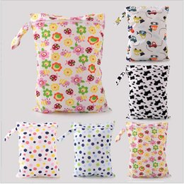 Wholesale Polka Dot Diaper Bags - Travel Baby Diaper Bags Portable Nappy Stackers Waterproof Wet Cloth Diaper Zipper Waterproof Diaper Bag Infant Travel Nappy Stacker YYA312