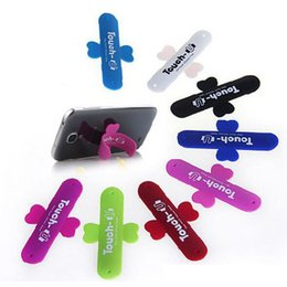 Wholesale One Touch Retail - Free shipping 3000pcs lot Universal Portable Touch U One Touch Silicone Stand Cell Phone Mounts Holder For Mobile phone with retail package