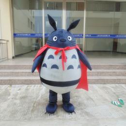 Wholesale Chinchilla Size - Fast Ship My Neighbor Totoro Mascot Costume Chinchilla Cartoon Costume Christmas Party fancy Dress Adult size Factory Direct Sale