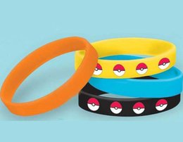 Wholesale Silicone Bracelet Id - Fashion 2016 Unisex Poke Elf Ball Pikachu Bracelets Silicone Women Men Girls Children Bracelets Gifts