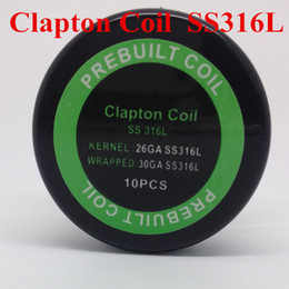 Wholesale Resistance Stock - Clapton Coil SS316L premade coil resistance wire coils for rda rba atomizer DIY in stock DHL free to USA