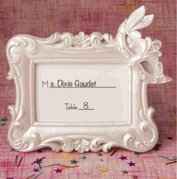 Wholesale Wedding Table Frames - Resin Masquerade Mask place card holder photo frame for wedding bridal shower birthday party table decorations free shipping