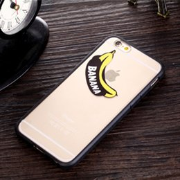 Wholesale Despicable Hard Case Iphone - 2016 for iphone 6s case 3D cartoon Cute BANANA case clear Transparent Despicable Me Hard PC cover for iphone6 6S plus