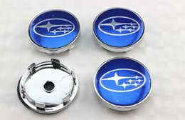 Wholesale Cover Subaru Forester - 4pcs lot BLUE STAR 60mm wheel center caps hub cover chrome car badges ABS for Subaru Forester Legacy Impreza XV STI
