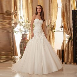 Wholesale Highest Discount Winter Dress - Discount Opulent Sweetheart Off Shoulder with Beading Custom Organza A-line Wedding Dresses 2017 Appliques