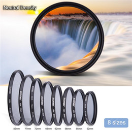 Wholesale Nd4 Neutral Density Filter - ZOMEI ND4 Fader Neutral Density Fading Control Filter for Camera Lens 52mm 55mm 58mm 62mm 67mm 72mm 77mm 82mm Free Shipping