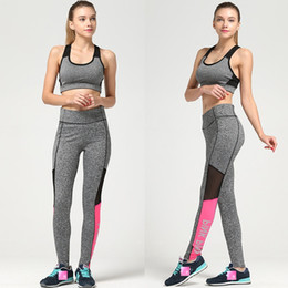 Wholesale Sexy Tights Wholesale - Vs Pink Leggings Secret Spring Sexy Yoga Fitness Printing Leisure Sports Victoria Leggings Stitching Pants Tights mk143