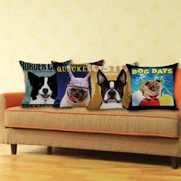 Wholesale Cheap Throw Cushions - Wholesale- Animal Cojines Cute Dog Pillowcase Decorative Pillows Cushion Fronha Para Travesseiro Throw Pillow Cases Christmas Gift Cheap