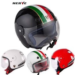 Wholesale Child Motorcycle Helmet - 2016 New Germany NERVE Kevlar elastic fiber child half face helmets kids motorcycle helmet for boy and girl size S M