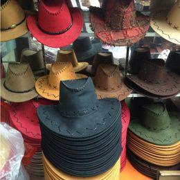 2017 Cappelli visiera Cappello da cowboy Berretto da visiera steppa mongola Cappellino in tesa Cappuccio estivo da viaggio da