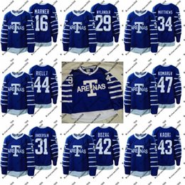d85a604f18b 1918 Arenas Jerseys 44 Morgan Rielly 47 Leo Komarov 42 Tyler Bozak 43 Nazem  Kadri Toronto Maple Leafs Custom Hockey Jerseys Cheap