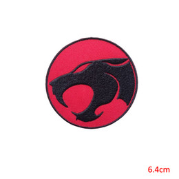 clothes repair Coupons - thunder cats cartoon animal embroidery iron on patch badge for jacket jeans clothing repair clothes patch