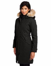 Wholesale Womens Winter Jackets Fur - Famous canadians Brand Big Raccoon fur Womens feather Down Jacket Winter Warm kensington parka Ladies Coat -40 degree