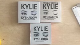 Wholesale Single Eye Shadows - Kylie Bronze Kyshadow Burgundy Pressed Powder Eye Shadow Palette Makeup Kylie Jenner Holiday Kit Cosmetics 9 Colors Eyeshadow Valentine Gift