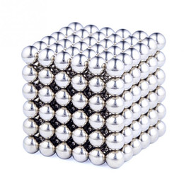 Wholesale Magic Box Sets - 216 Pcs Set Cube Neodymium Magnet Balls 3mm Magnetic Balls for Building 2-D or 3-D Objects Cube Toys with 1 Metal Box #45