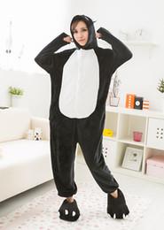 Wholesale Pig Adult Onesie - Unisex Adult Pajamas Animal black pig Men and Women Sleepsuit Sleepwear Cosplay Costume pig Onesie