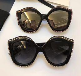 Wholesale Cat Eye White Stone - Women 0118S Black Silver Rose Stones Sunglasses 53mm 0118 s 002 Designer Sunglasses Brand Cat Eye Sunglass New with Box