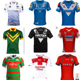 Wholesale Rugby Shirts Xxl - 2017 2018 World Cup NRL Jersey England rugby shirt 17 18 kiwi tonga rugby Jerseys SAMOA kiwis NRL National Rugby League Australia shirts