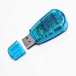 Wholesale Sim Card Sms Backup - Wholesale-2PCS USB Cellphone SIM Card Reader Copy Cloner Writer SMS Backup GSM  CDMA  WCDMA
