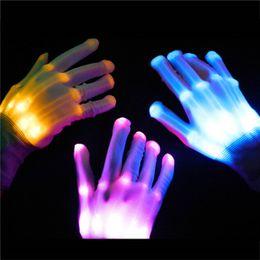 Wholesale Lighted Glove - LED Gloves Halloween LED Cosplay Glove Lighted Toy Halloween Light Props Party Light Gloves Wholesale Halloween Lighting Toys 3002053