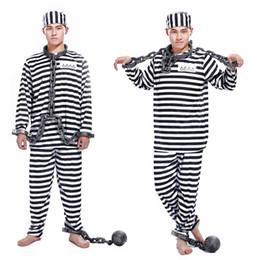 2019 prisonnières Cosplay Vêtements Halloween adulte Prisonniers de rôle prisonniers violents Noirs et les Blancs et les femmes costumes de mascarade prisonnières pas cher
