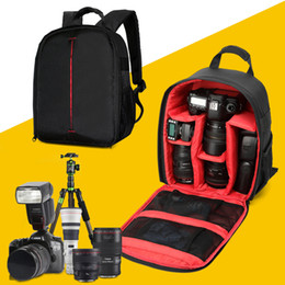 Wholesale Dslr Camera Bag Backpack - 2017 New DSLR Camera Bags Backpack Video Photography Bags red green orange for Canon nikon cameras