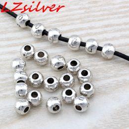 Mic rondas de prata on-line-MIC 200 PCS Antique prata liga de zinco Bali estilo rodada Spacer Bead 7x6mm DIY jóias D18