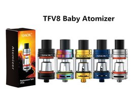 Wholesale Pre Packs - E Cigarette TFV8 Baby Atomizer Single Pack with Baby-Q2 0.4ohm Coils Pre-installed Top Fill 3ML Tank for Alien 220w Stick V8 Baby Kits