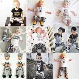 1. Geburtstag Outfits für Baby Boy Girl Set Kleidung Weihnachten Halloween Infant Neugeborenen Schädel T Shirt Top + Hose 2 Stück Anzug Kleinkind Trainingsanzug von Fabrikanten