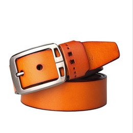 Wholesale Leather Belt Name Brands - 2016 New product mens belts luxury genuine leather brand name belt for men Pin jeans belts best quality male girdle