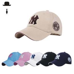 Wholesale Sunshade Caps - NY Baseball Cap Unisex Embroidery Letter Duck Tongue Hip Hop Cap Outdoor Leisure Sports Sunshade Hats