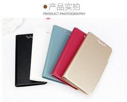 Wholesale Thin Magnetic Case Iphone - Silk Pattern Ultra-Thin Case Magnetic Flip PU Leather Cases Card Slot Stand Holder Cover For samsung s7 s6 3.5-6.0 Inch Phone Universal Case
