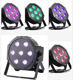 Wholesale Shows Auto - Aimbinet RGBW LED Light RGBW LED Par Lights 10W x 7 LED DMX 4-in-1 Par Stage Light Bright for Wedding DJ Event Party Show