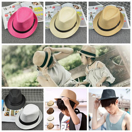 Wholesale Family Christmas Party - Children Kids Kitted Print Hats Buckle Adult British Jazz Cap Hats Parent-Child Family Match Wide Brim Hats YYA428