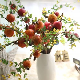 Wholesale Autumn Decor - Pomegranate Branch Artificial fruit home-decor Christmas Daily Wedding popular Choice Houseware item Fake Flower Autumn Classic Decoration